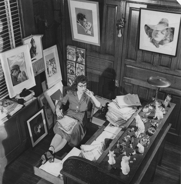 Daisy Bacon at work in her office in the Street and Smith Building